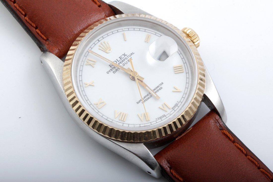 Rolex Mens 16233 Datejust- White Roman Dial