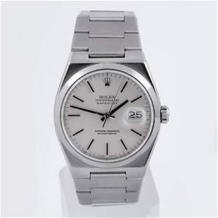 Rolex Mens SS Oyster-Quartz Datejust- SIlver Dial 17000