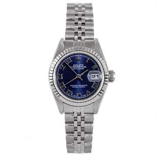 Rolex Ladies 69174 Datejust - Blue Roman Dial