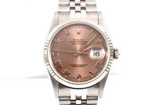 Rolex Mens 16234 - Salmon Roman Numeral Dial