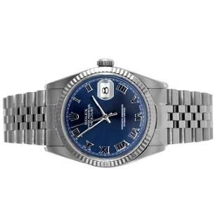 Rolex Mens 16234 - Blue Roman Numeral Dial