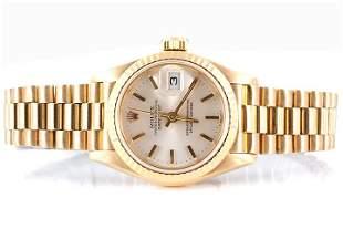 Rolex Ladies 69178 President - Silver Stick Dial