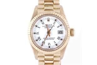 Rolex Ladies 69178 President -White Roman Dial