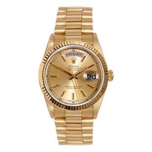 Rolex Mens 18038 Day-Date President - Champagne Dial