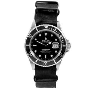 Rolex Mens 16610 Submariner - Black Dial - Nato Strap