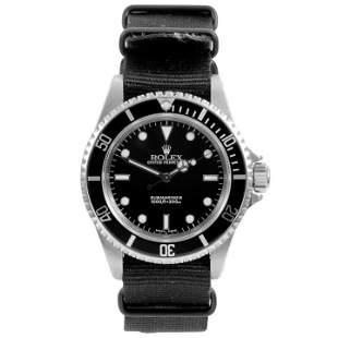 Rolex Mens 14060 No Date Submariner - Nato Strap