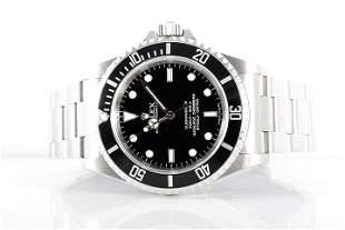 Rolex Mens SS No Date Submariner - Black Dial 14060