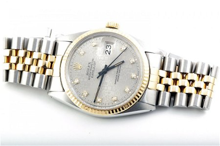 Rolex Mens 2tone Datejust - Silver Jubilee Diamond Dial