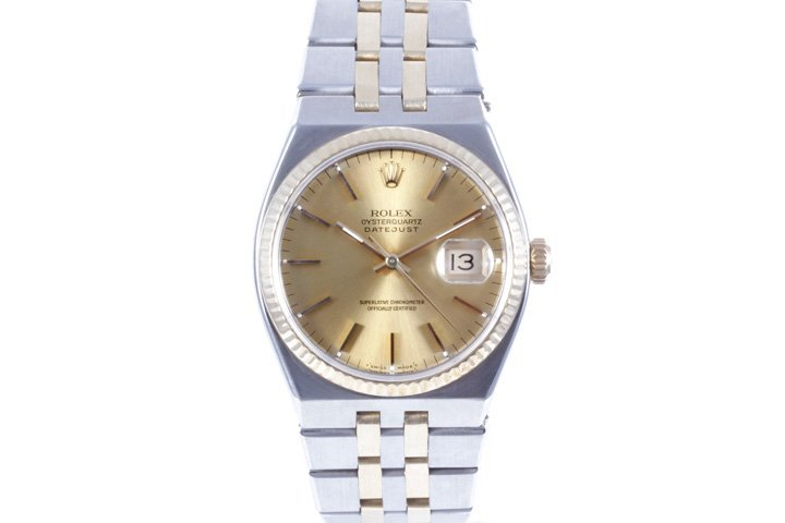 Rolex Mens 18K/SS Oyster-Quartz Datejust - 17013