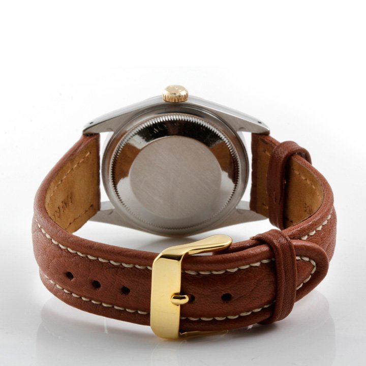 Rolex Mens 2tone Datejust - Leather Strap 16013 - 3