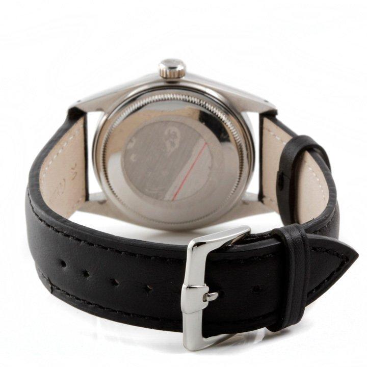 Rolex Mens 16014 Datejust - Black Dial - Leather Strap - 3