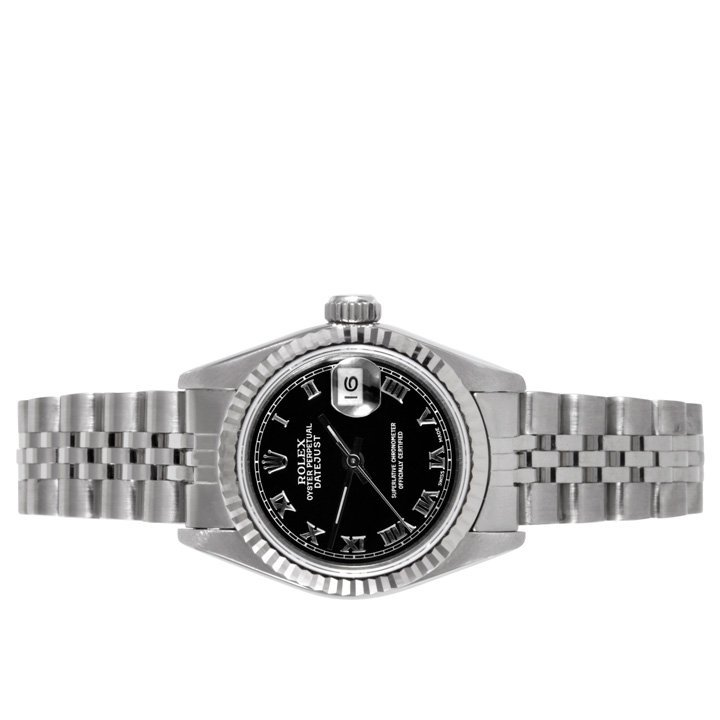 Rolex Ladies 69174 Datejust-Black Roman Dial