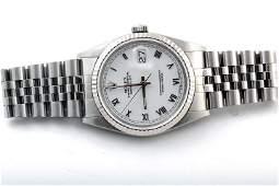 Rolex Mens 16234 - White Roman Numeral Dial