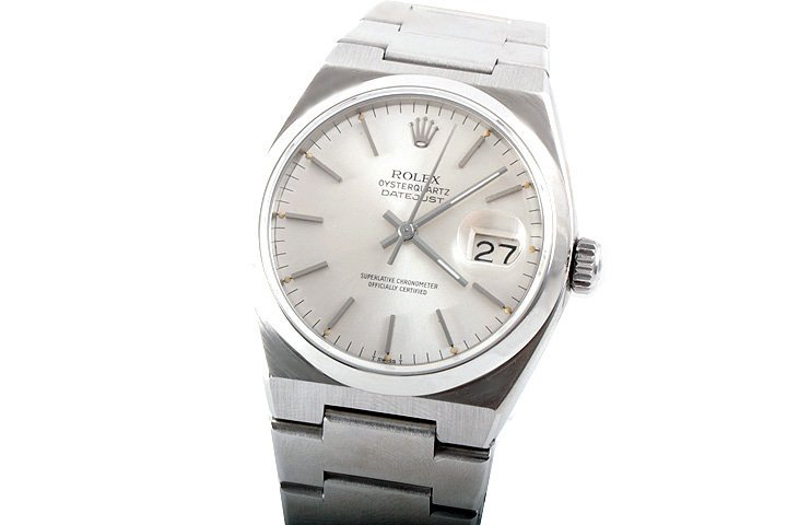 Rolex Mens SS Oyster-Quartz Datejust- SIlver Dial 17000