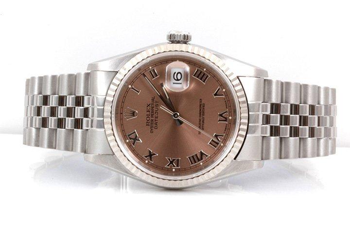 Rolex Mens 16234 - Salmon Roman Numeral Dial - 2