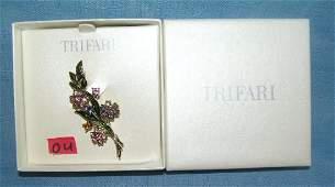 High quality Trifari brooch with original box