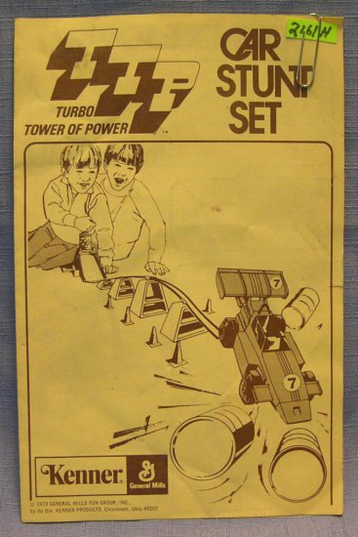 Vintage Kenner Toys car stunt booklet