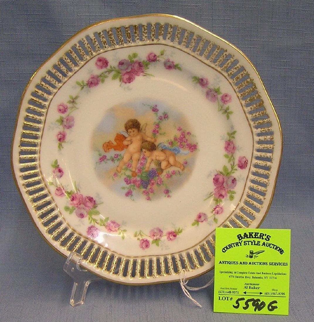 Antique Royal Hanover cerub decorated dish