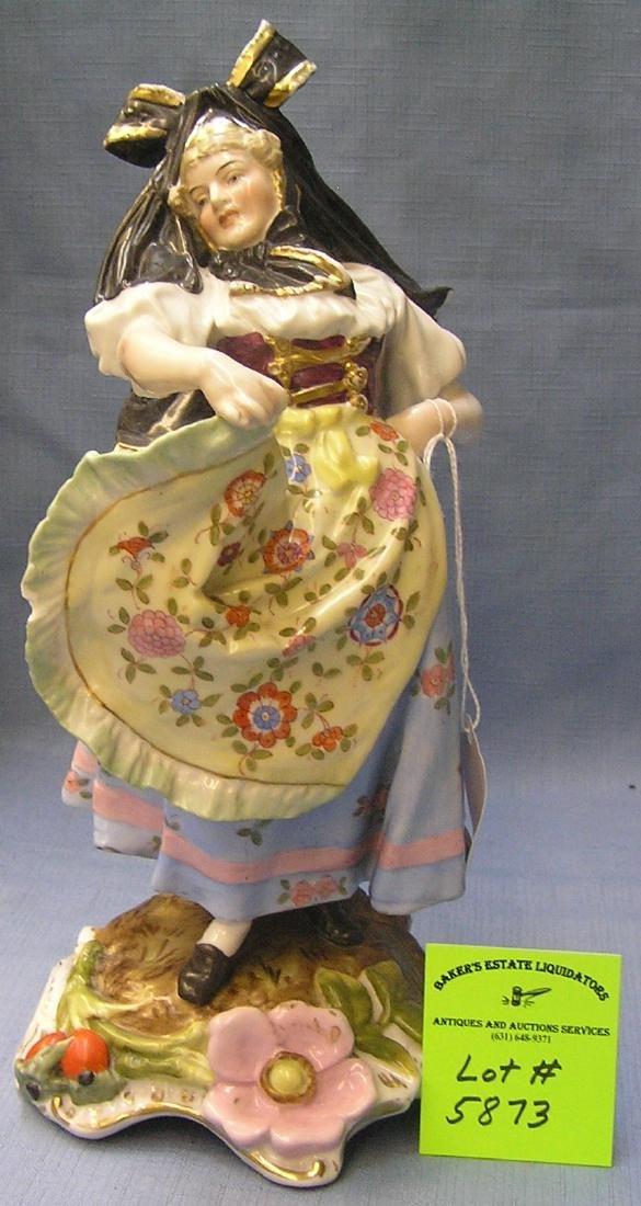 Dancing European female figure