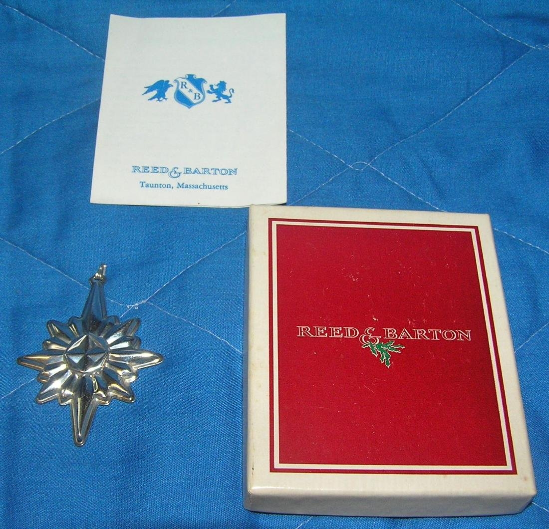 Sterling silver Reed and Barton Christmas star necklace