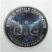 1 troy ounce 999 pure fine silver commemorative coin