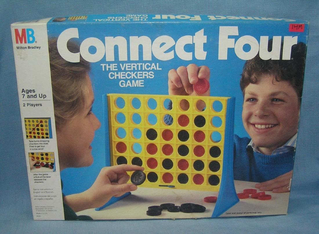 Connect Four checkers game by Milton Bradley