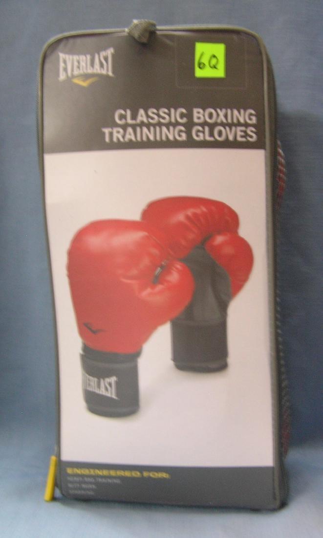 Pair of Everlast plastic boxing training gloves