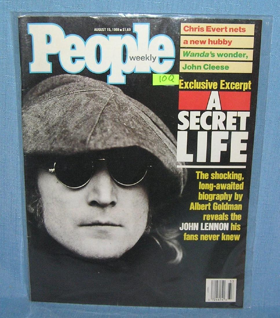 John Lennon on the cover of People magazine