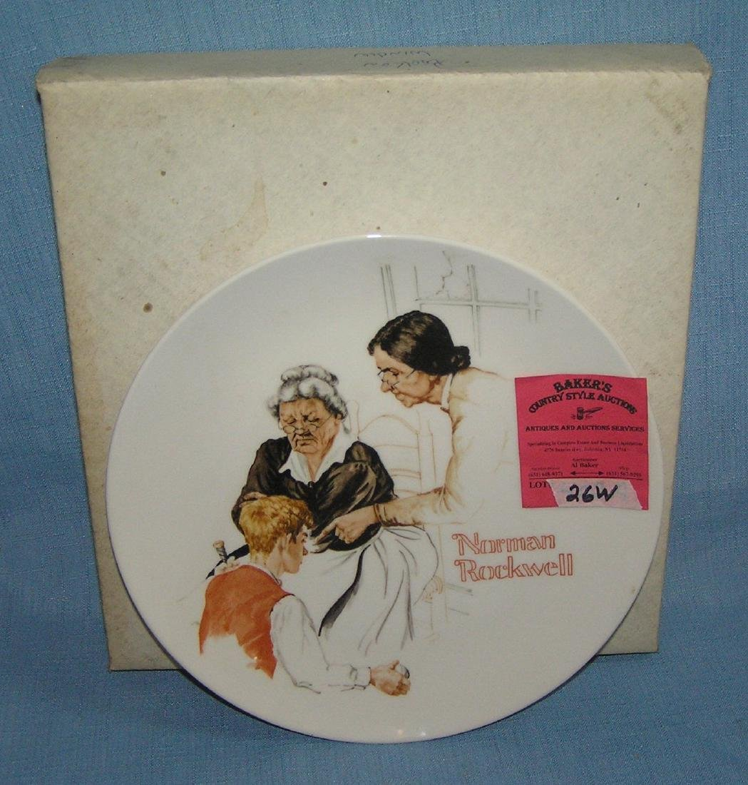 Norman Rockwell collector plate: The Broken Window