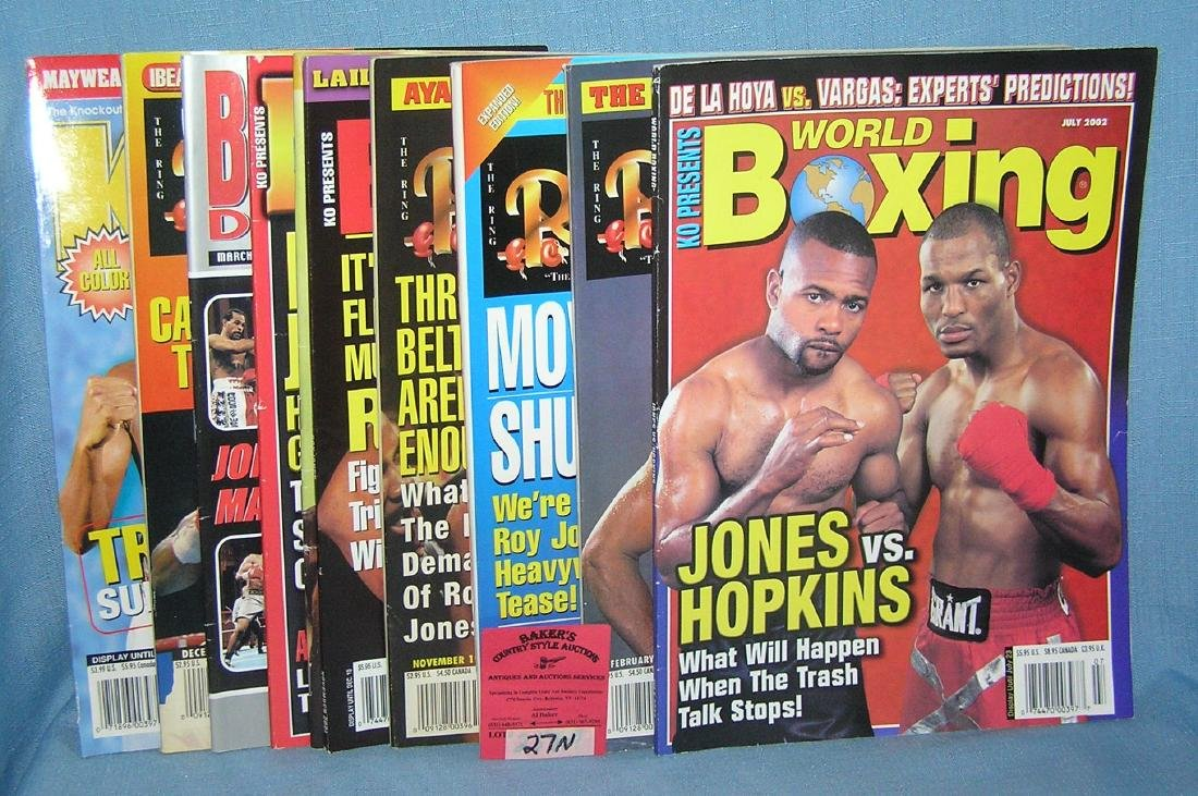 Collection of vintage boxing magazines