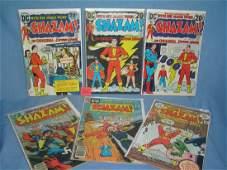 Group of early Shazam comic books