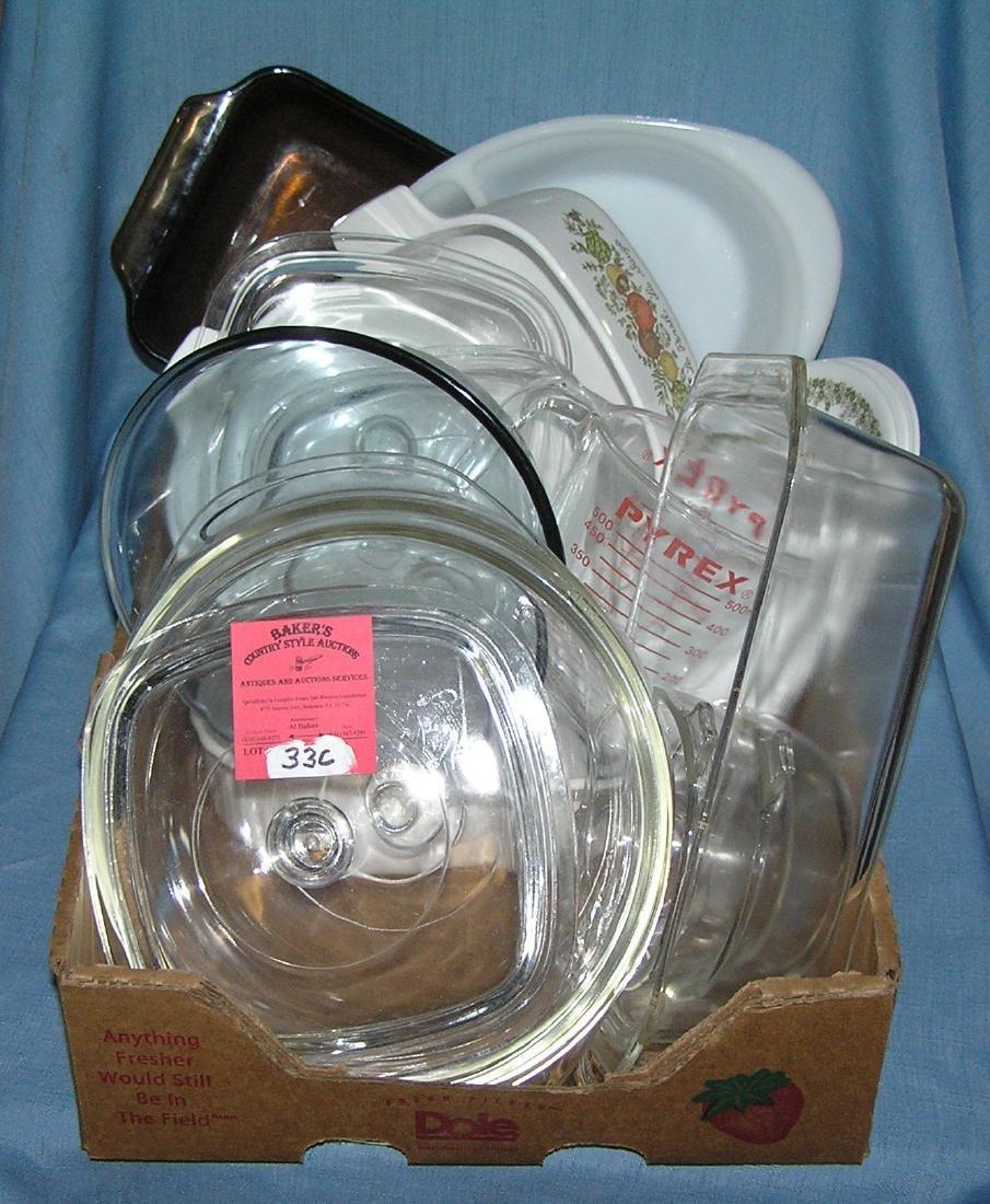 Corningware, Correlle, Glassbake, Pyrex and more