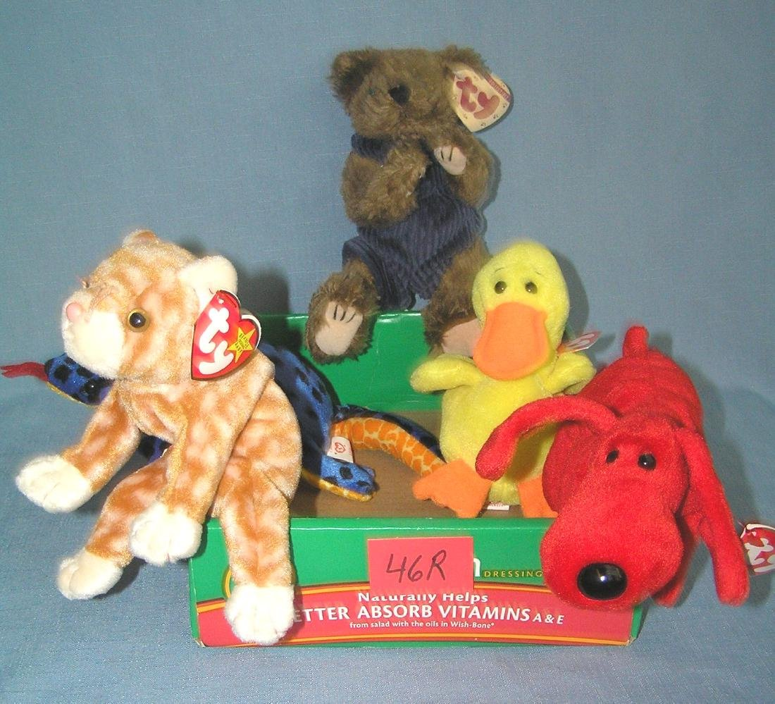 Box of vintage Beanie Babies