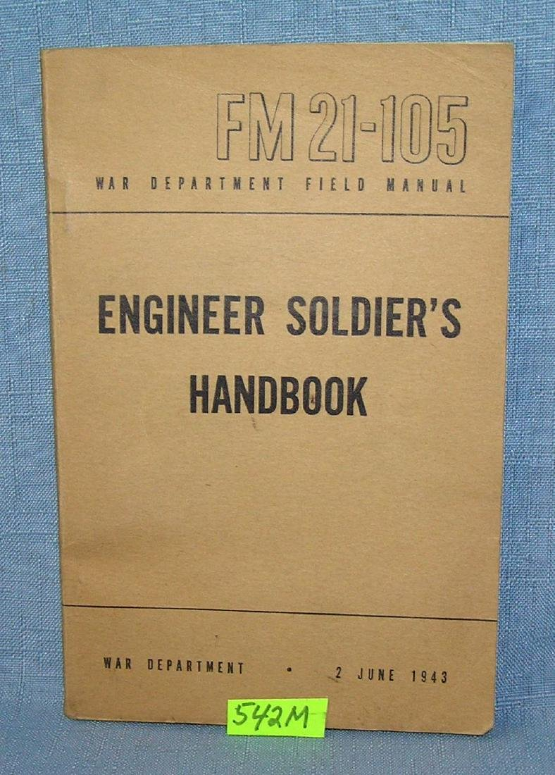WWII Engineer's soldier's hand book