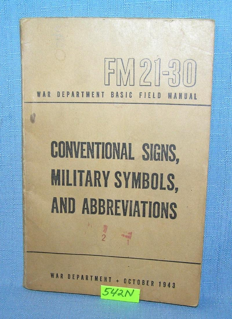 WWII Conventional signs and abbreviations book