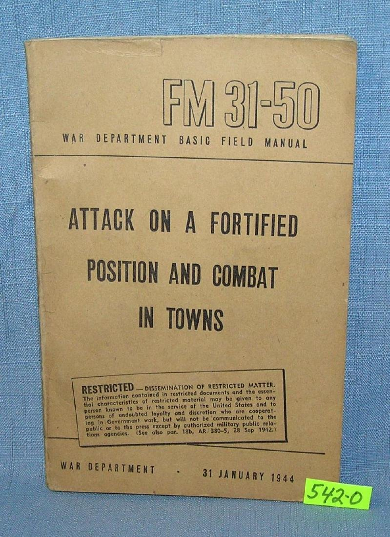 WWII attack on a fortified position book
