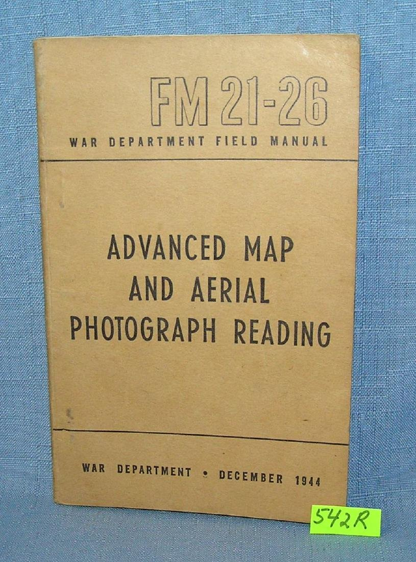 WWII Advanced map and ariel photograph reading book