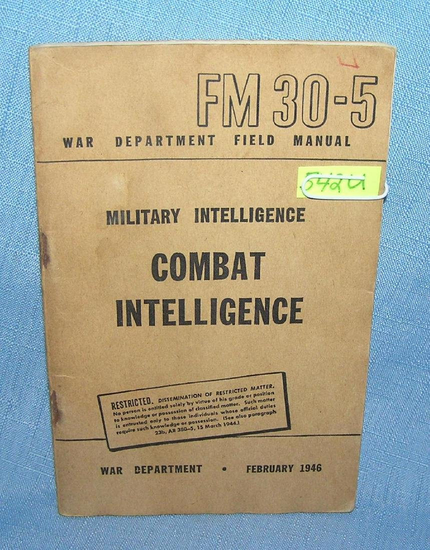 Military intellegence combat intellengence