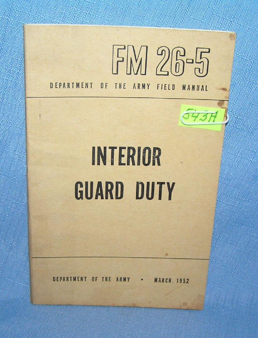 Interior guard duty Dept. of the Army