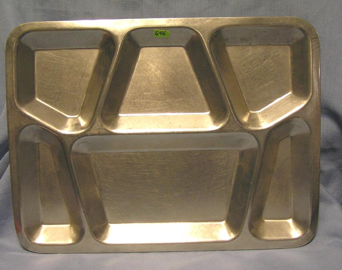 Original Korean War mess hall serving tray