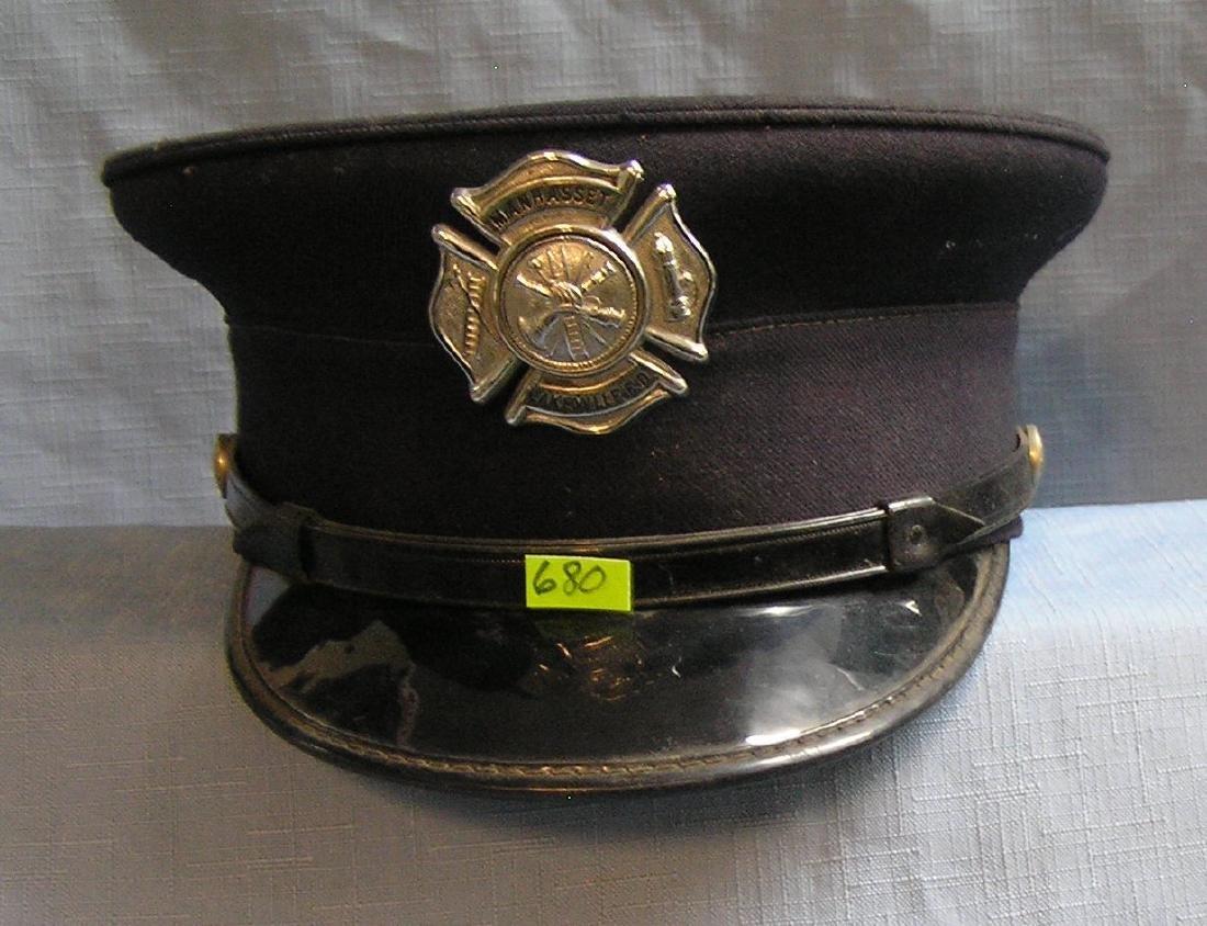 Vintage Long Island fire chief dress hat