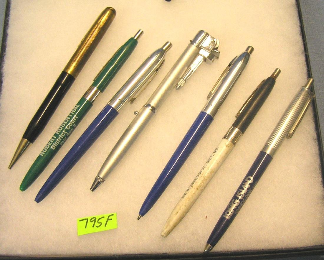 Group of vintage pens many with advertising