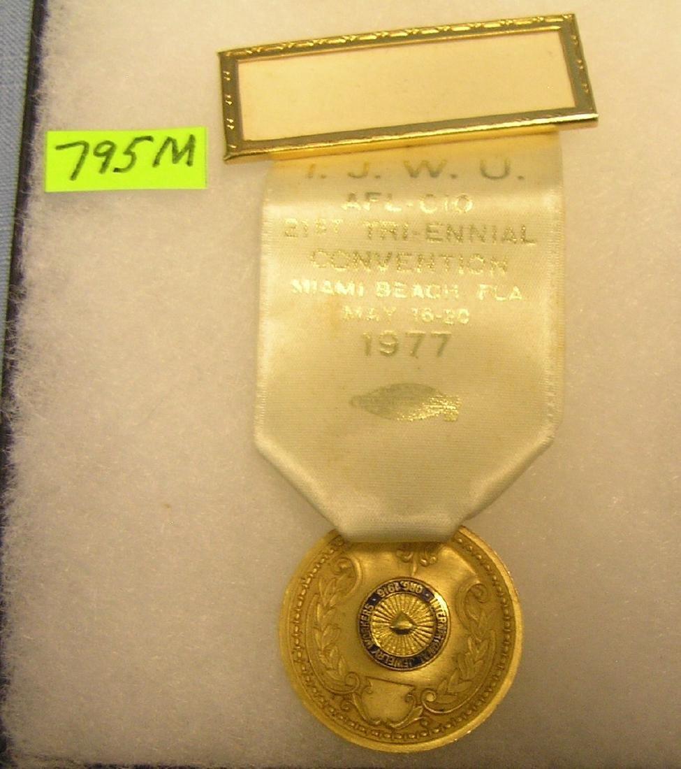 Vintage intl Jewelry workers presentation medal