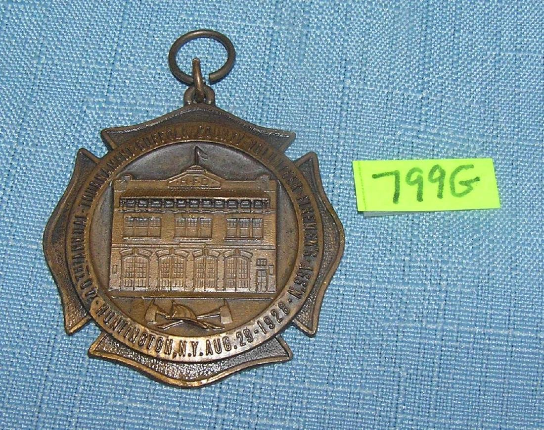 Suffolk county LI Fireman's association medal