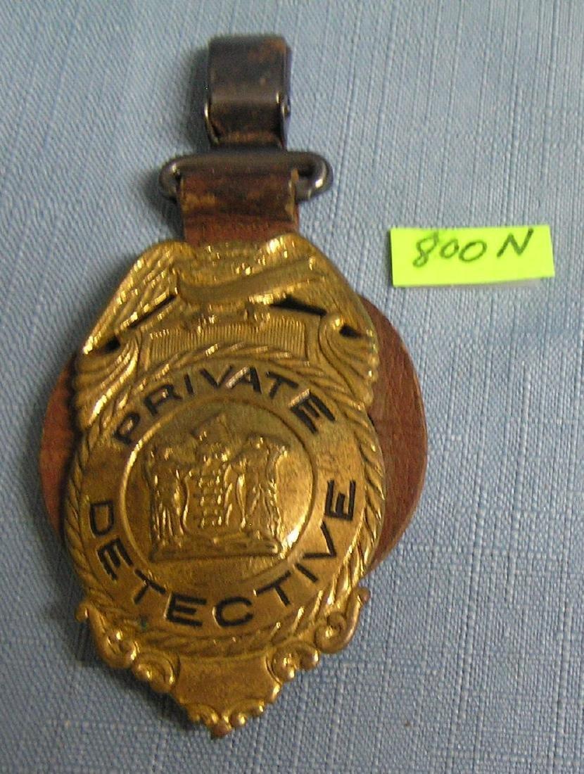 Antique private detective shield