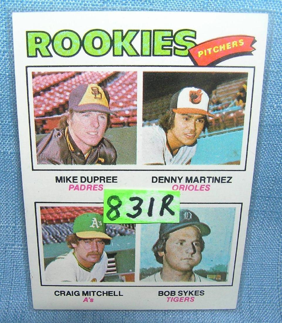 Denny Martinez rookie baseball card