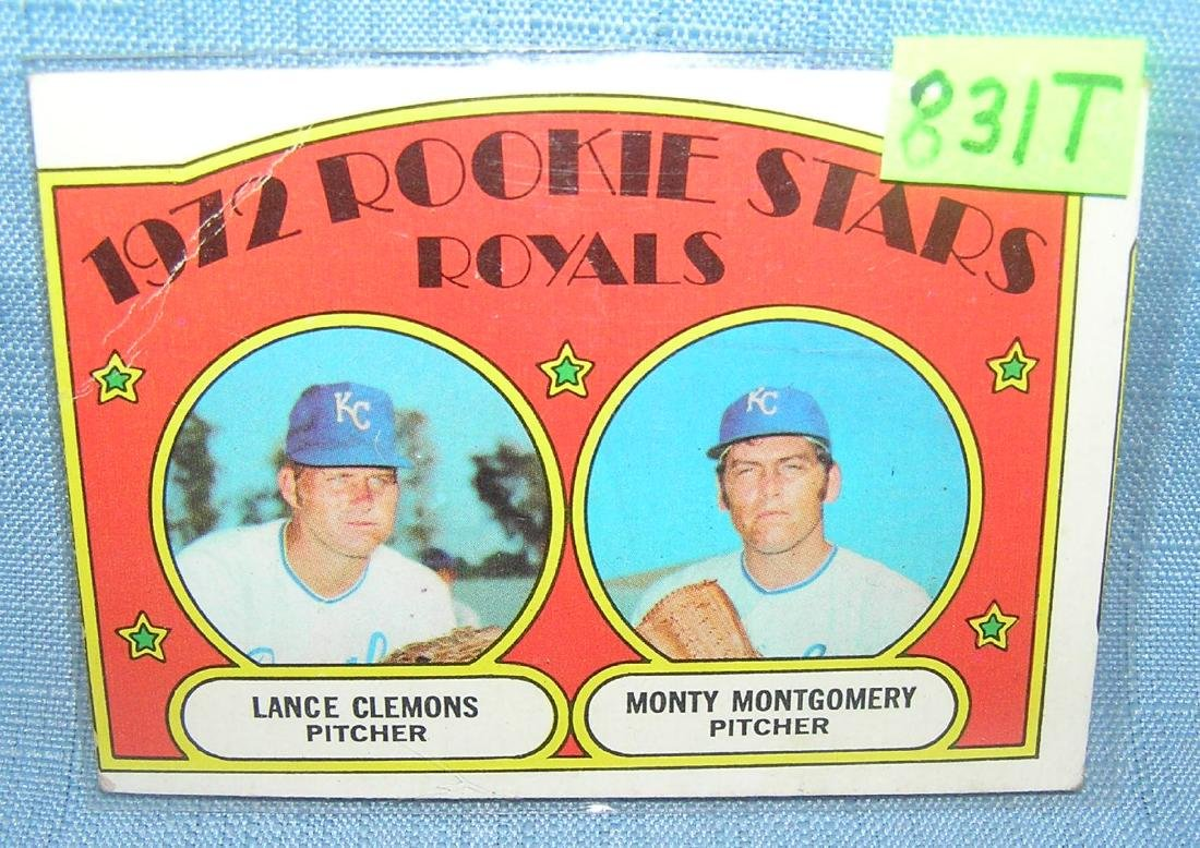 1972 rookie stars baseball card