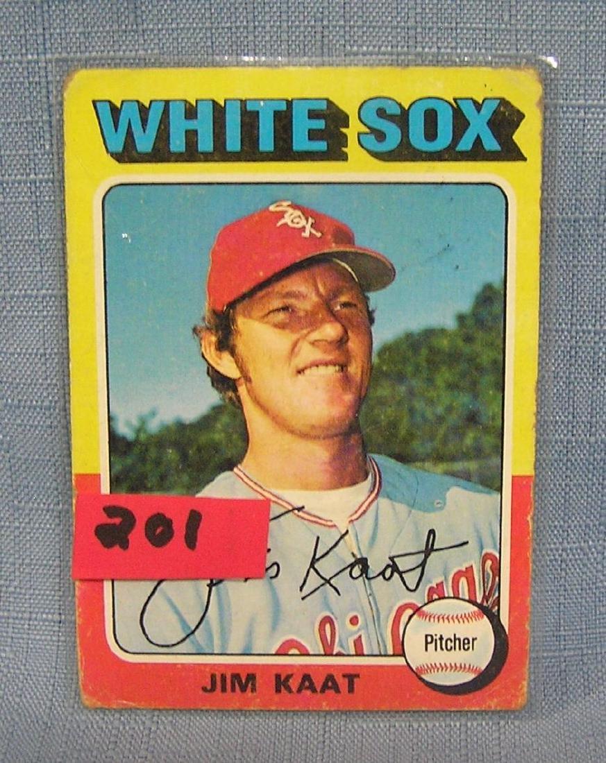 Vintage Jim Kaat baseball card