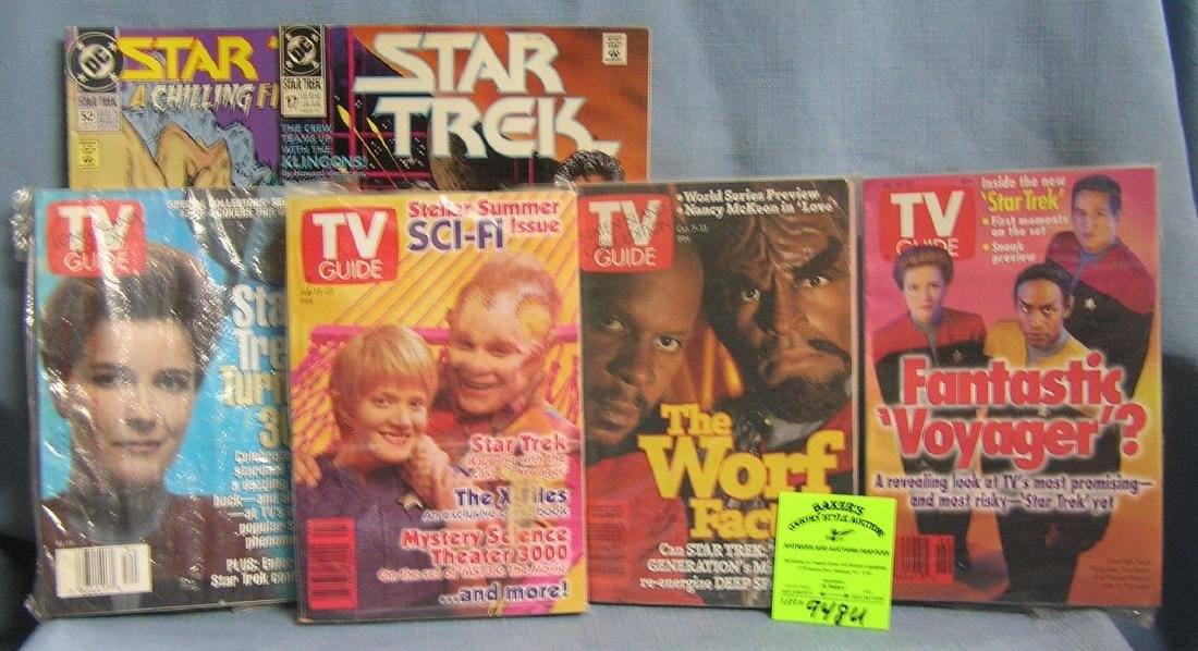 Collection of vintage Star Trek TV guides and comics