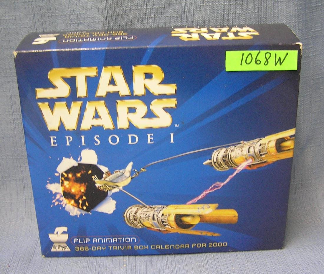 Star Wars Episode 1 trivia box calendar